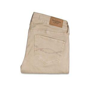 Abercrombie Tan pants mid-rise jegging size 4